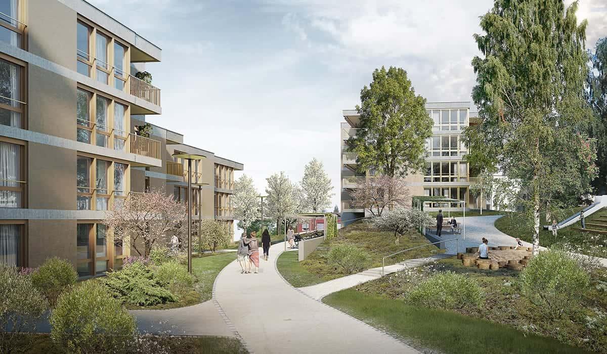 AmreinHerzig GmbH, Wohnüberbauung Eu, Menzingen
