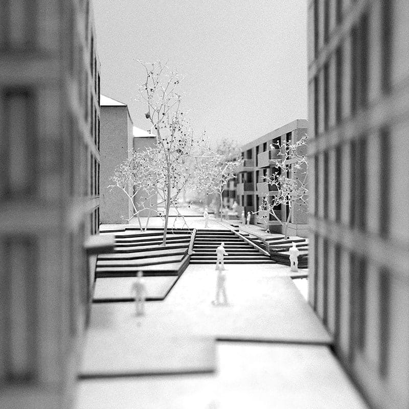 <b>098.</b> Studienauftrag<br>Sinserstrasse 3–13, Cham, 2020 – Projektwettbewerb, 1. Rang