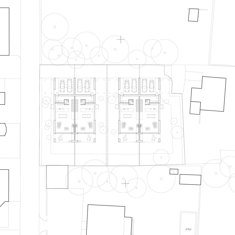 <b>069.</b> Doppel-Einfamilienhaus<br>Gartenstrasse, Lenzburg, 2014 – Studienauftrag