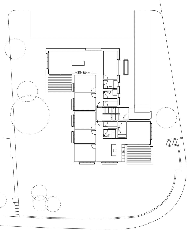<b>024.</b> Mehrfamilienhaus<br>Felsenegg, Rothenburg, 2006–2008
