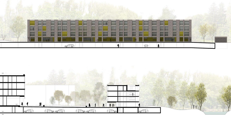 <b>084.</b> Wohnüberbauung<br>Giessenareal, Dübendorf, 2017 – Projektwettbewerb