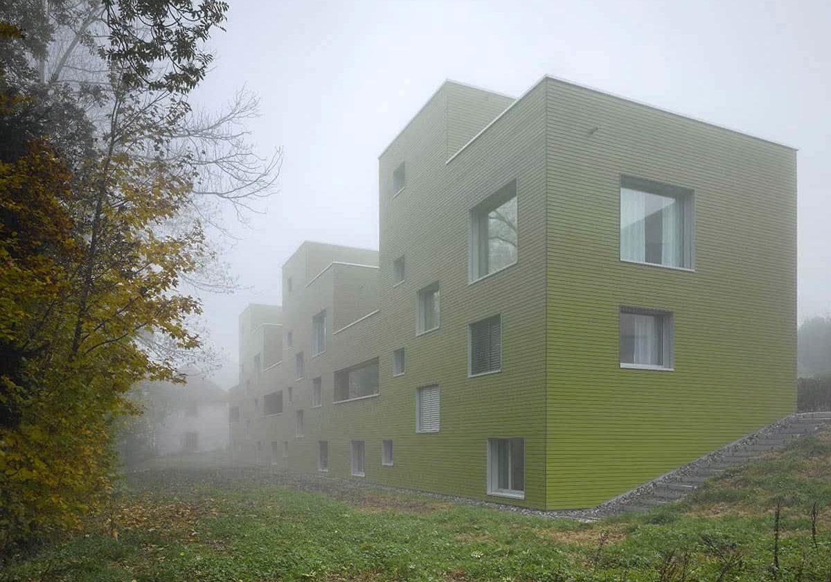 <b>032.</b> Reihenhäuser<br>Mühlestrasse, Edlibach, 2007–2011