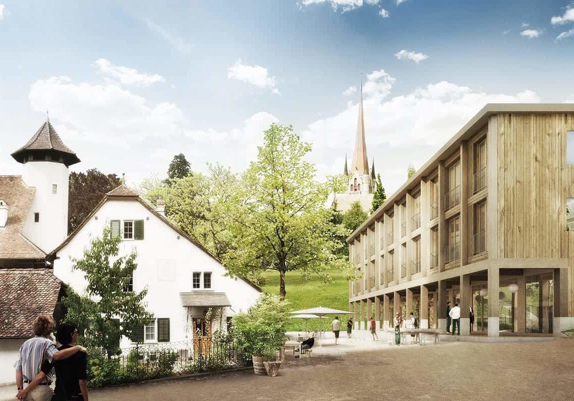 <b>068.</b> Wohnhäuser<br>Zurlaubenhof, Zug, 2014 – Projektwettbewerb